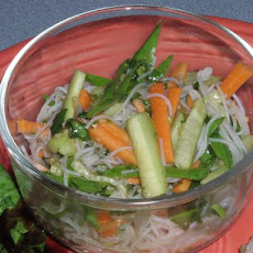 Cellophane Noodles With Garlic, Cucumbers and Cilantro - Ww