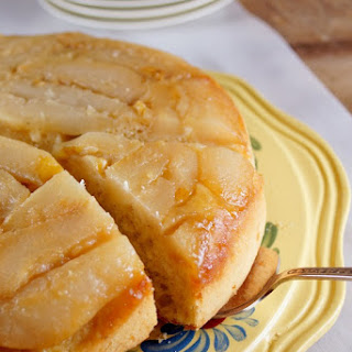 Cardamom Honey Pear Upside-down Cake