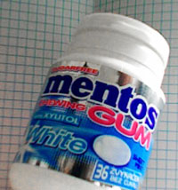 Mentos Gum with Xylitol, photo by Colleen