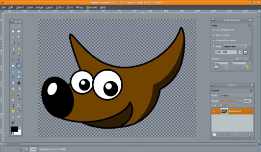 GIMP 2.6 window