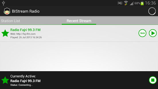 BIStream Radio - screenshot