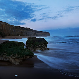 Beach by Nilam Deo - Landscapes Waterscapes ( great ocean road, waterscape, sea, ocean, seascape, beach, rocks )