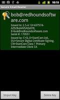 Screenshot of Secure Email Reader