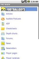 Screenshot of FBG Mobile