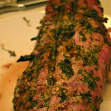 Chimichurri Stuffed Pork Loin