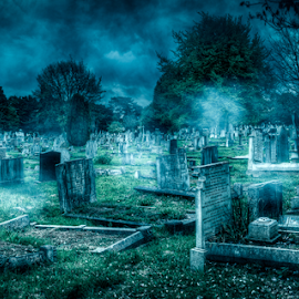 Cemetery by Michael Payne - Digital Art Places ( cemetary, grave yard, southend,  )