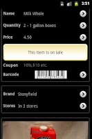 Screenshot of Grocery Gadget Lite