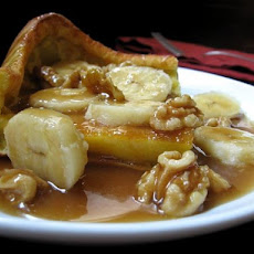 Puffy Pancake With Nutty Banana Butterscotch