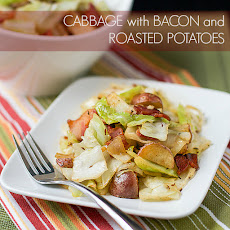 Cabbage with Bacon and Roasted Potatoes