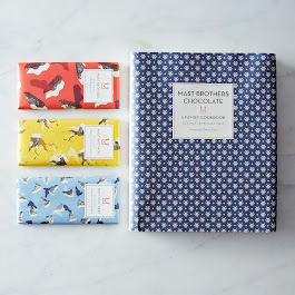 Mast Brothers Chocolate Signed Cookbook with 3 Chocolate Bars