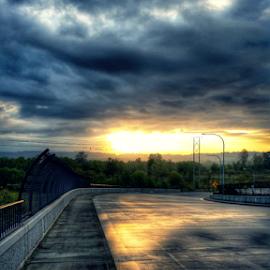 light & pavement by Todd Reynolds - City,  Street & Park  Vistas