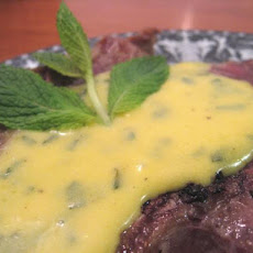 Lamb Chops with Minted Hollandaise Sauce