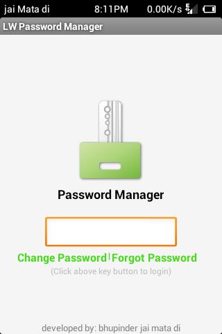 Lightweight Password Manager
