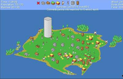 【防衛ゲーム】集落を作って搭を攻め落とすシュミレーションゲーム「Breaking the Tower」