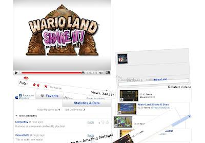 海外版「ワリオランド」wario shake itのYouTubeプロモーションサイト