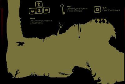 【ゲーム】「Crow In Hell」炭鉱に落とされたカラスを操作する洞窟飛行アクション