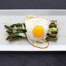 Asparagus + Fried Egg + Parmesan
