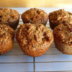 No-Flour No-Sugar Oat Walnut Fruit Muffins