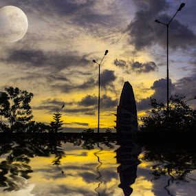 Twilight  zone by Raj Mushahary - Landscapes Sunsets & Sunrises ( sky, twilight, asia, reflections, sunrise, landscape )
