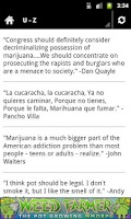 Screenshot of Marijuana Quotes