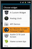 Screenshot of Arc Reactor Screen Timeout