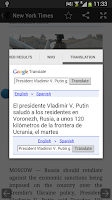 Screenshot of Roboto News Reader