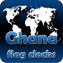 Ghana flag clocks icon