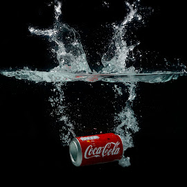 Coca Cola Splash by Luc De Cock - Food & Drink Alcohol & Drinks ( water, cola, splash, drinks, coca )