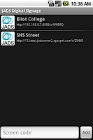 Screenshot of JADS Screen Reader