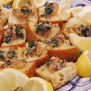 Crostini with Clams