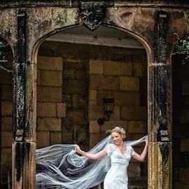 Ripley Castle Bride by Pete Bristo MBE  - Wedding Bride ( ripley castle, wedding )