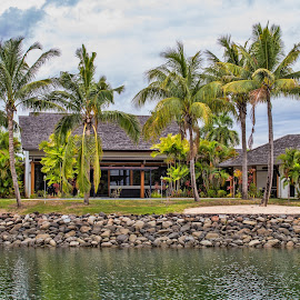 waterfront home by Vibeke Friis - Buildings & Architecture Homes ( home, palms, river,  )