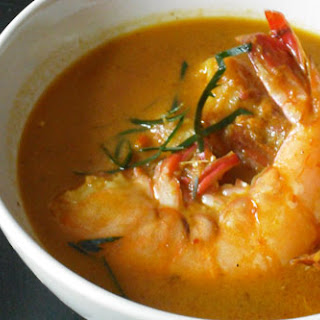 Shrimp in Mussaman Curry Sauce