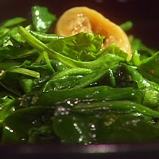 Spinach Sauteed with Garlic, Figs, and Honey