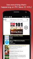 Screenshot of KXL FM News
