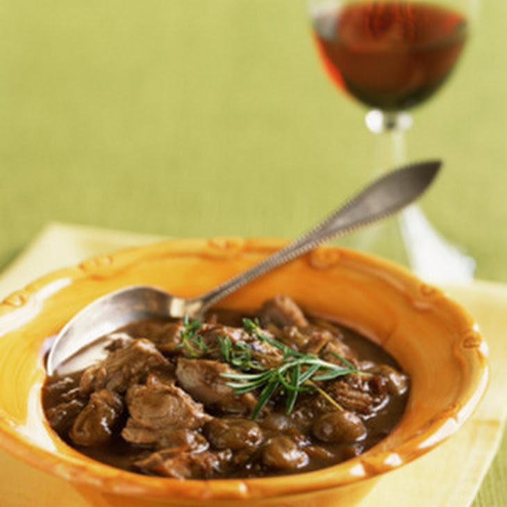 Beef Stew With Red Wine And Horseradish-Chive Cream Recipe ...