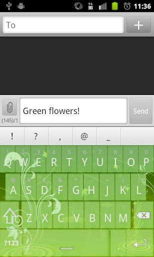 Green Flowers Keyboard Skin