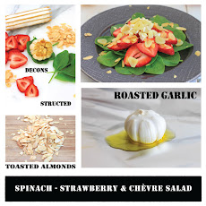 Spinach, Strawberry and Chevre Salad