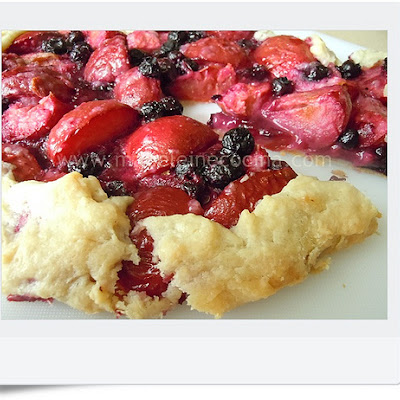 Plum and Cranberry Galette