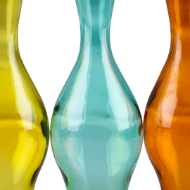 Curves by Huub Keulers - Abstract Patterns ( color, glass, bottles, curves,  )