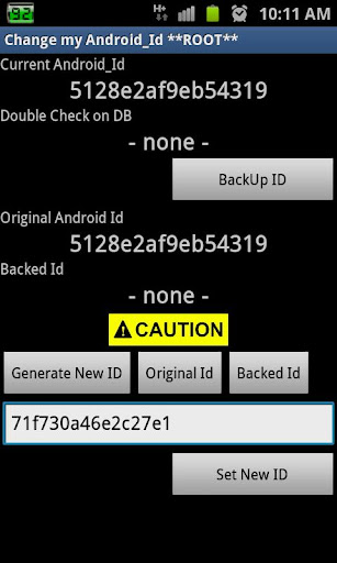 Change Android Id ★ Root