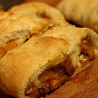 Butternut, Caramelized Onion, and Mushroom Stromboli