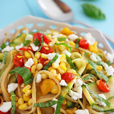 Summer Vegetable Linguine with Feta