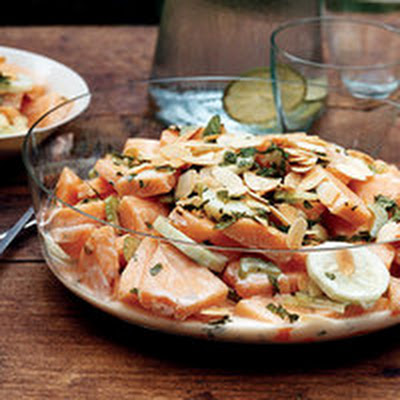 Cantaloupe and Cucumber Salad