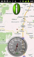 Screenshot of Map Speedometer (paid)