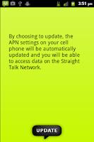 Screenshot of Straight Talk Data Settings