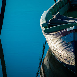 Today the sky is blue, so blue is my favorite color. Today by Carla Roque - Transportation Boats ( detail, blue, sea, portugal, boat,  )