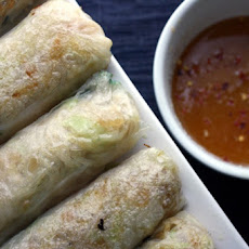 Rare Tuna Spring Rolls with Lime and Soy