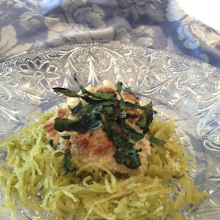 Spaghetti Squash with Chicken Parmesan