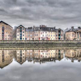 St Georges Quay,Lancaster by Rob McEwen - Buildings & Architecture Public & Historical ( reflection river quay quayside lancaster architecture buildings river,  )